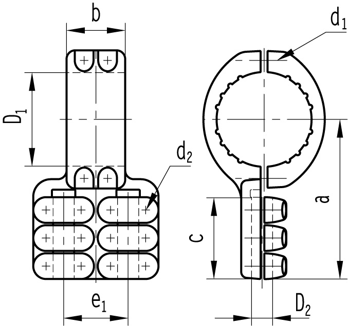 T-clamps for bundled conductor | ELBA - katalóg